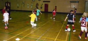 Junior futsal coaching expands to Brigg – YMCA coaching links to Barcelona (?)