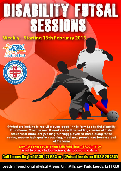 WANT TO PLAY FUTSAL BUT HAVE A DISABILITY - CHECK OUT THIS CONTACT