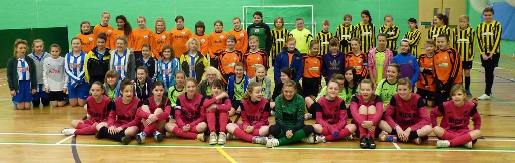 U13S GIRLS PLAY FUTSAL AT THE PODS, SCUNTHORPE