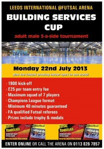 SENIOR TEAMS TAKE NOTE - LEEDS TOURNAMENT MONDAY 22ND JULY 2013