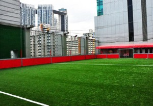 Amara Singapore opens rooftop futsal pitch - illustrates how big futsal is in Asia