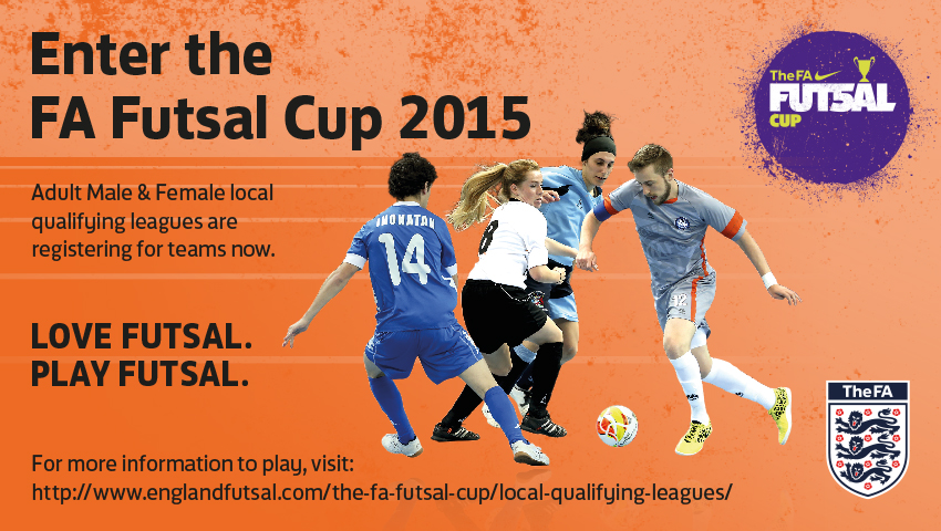 FA Futsal Cup 2015, Grimsby can confirm 2 mens' senior qualifying leagues and 1 ladies