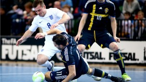 LONDON, ENGLAND - FEBRUARY 28:  Futsal International Tournament at The Copper Box on February 28, 2015 in London, England.  Courtesy FA www.thefa.com
