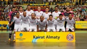 Kairat Almaty 3-2 FC Barcelona Kairat won the UEFA Futsal Cup for the second time in three years after holding off reigning champions Barcelona.