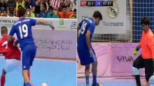 Diego-Costa-takes-no-prisoners-friendly-futsal-tournament, Daily Mail video
