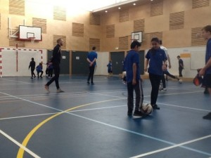 Ex Manchester United player delivers school futsal master class
