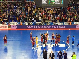 Barcelona futsal win 7-1 in front of full house with some stunning goals