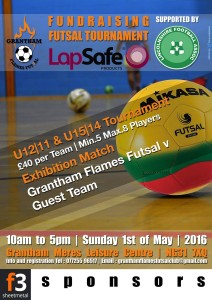 Grantham Flames tournament details (Sunday 1st May)