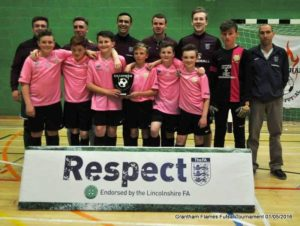 Futsal Comes to Grantham Leisure Centre. Winners 2016 Discoveries Town FC