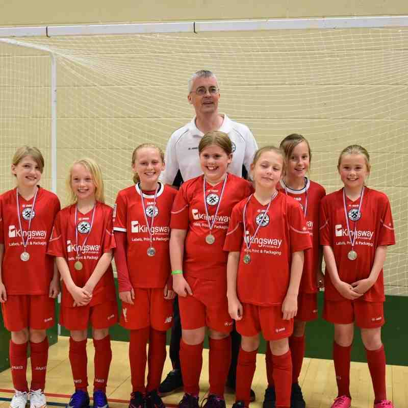 Grimsby Borough Girls u10 represent County at FA Futsal Cup