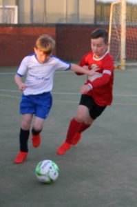 Discoveries & Clee Community under 10/11s in action at Novartis. To join league call Kevin Bryant 07980286663